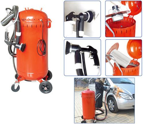 Dustless sand blasting machine